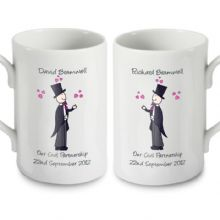 Male Wedding Mug Set